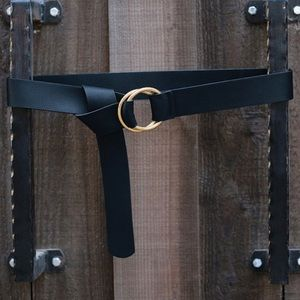 B low the belt Camille wrap belt black and gold